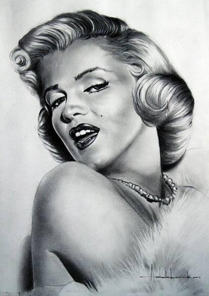 Wall Art - Painting - Marilyn Monroe by Ashok Karnik