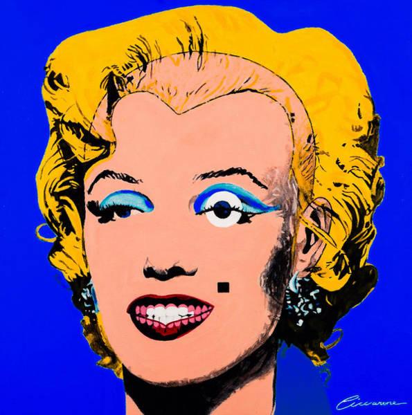 Norma Jeane Mortenson Painting - Marilyn Monroe Blue by Joe Ciccarone