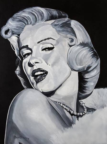 Norma Wall Art - Painting - Marilyn Monroe by Brian Broadway
