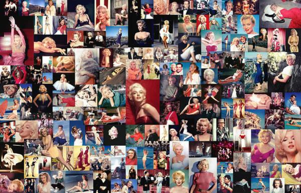 Wall Art - Digital Art - Marilyn Monroe Collage by Zapista Zapista