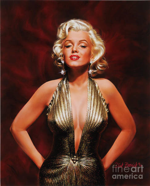 Wall Art - Painting - Marilyn Monroe by Dick Bobnick