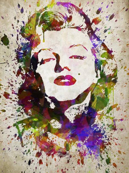 Wall Art - Digital Art - Marilyn Monroe In Color by Aged Pixel