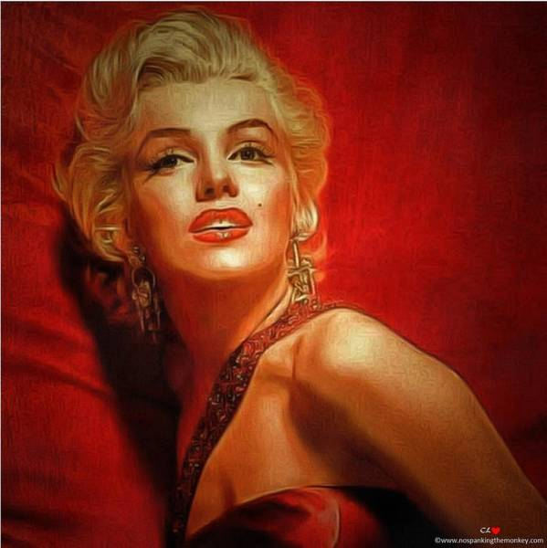 Digital Art - Marilyn Monroe Lady In Red by Catherine Lott