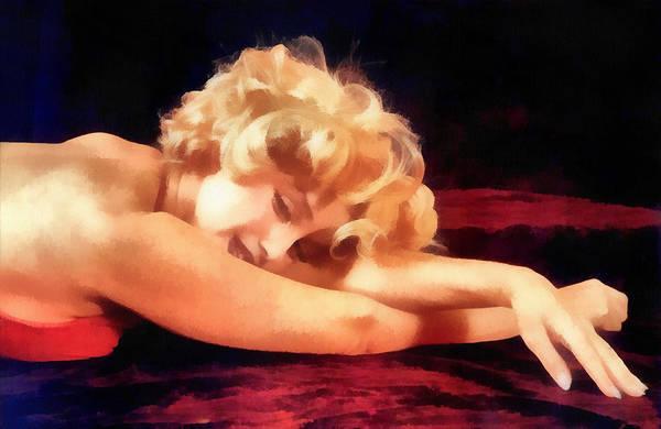 Norma Jeane Mortenson Painting - Dreaming Marilyn by Maciek Froncisz