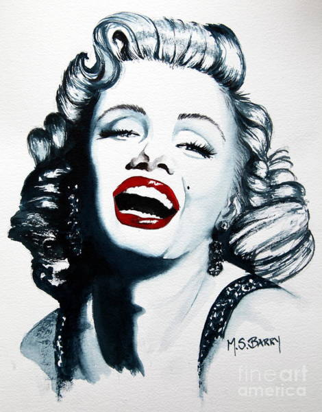 Painting - Marilyn Monroe by Maria Barry
