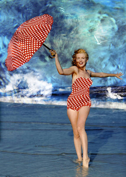 Photograph - Marilyn Monroe - On The Beach by Ericamaxine Price