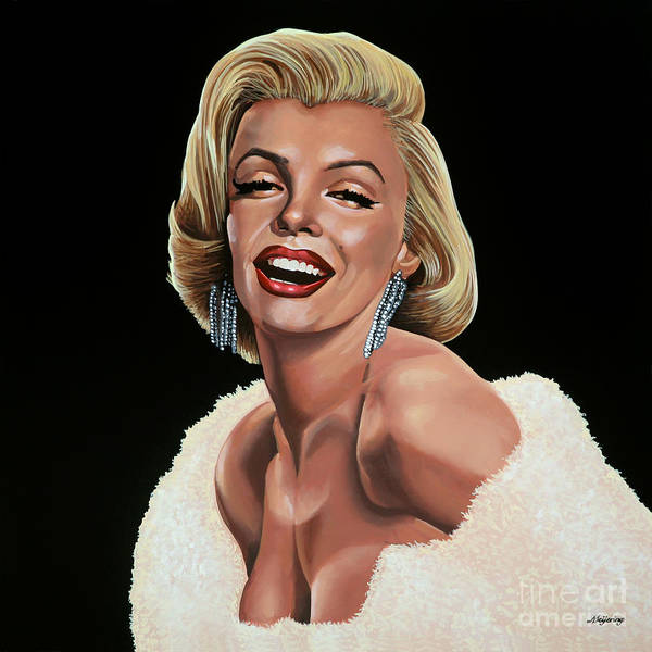 Show Business Wall Art - Painting - Marilyn Monroe by Paul Meijering
