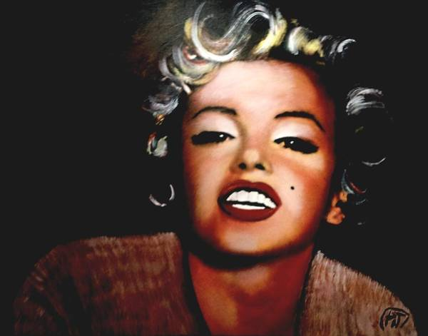Norma Jeane Mortenson Painting - Marilyn Monroe by Peter Hereel