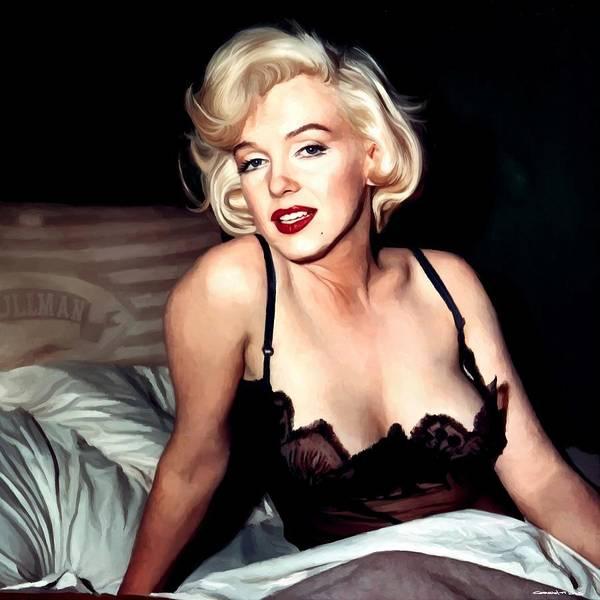 Digital Art - Marilyn Monroe Portrait #8 by Gabriel T Toro