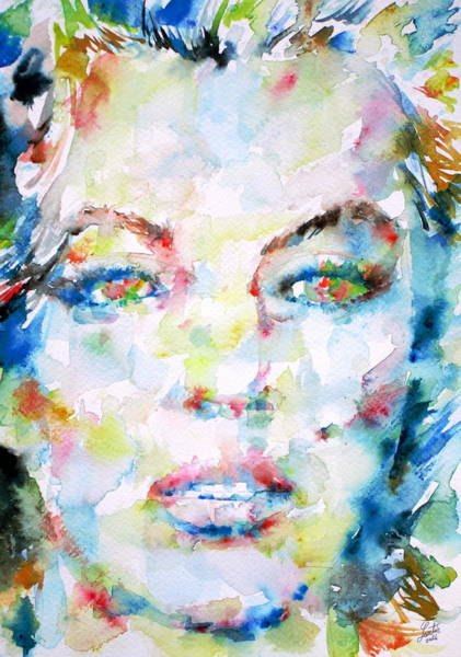Psychedelic Image Painting - Marilyn Monroe Portrait.6 by Fabrizio Cassetta