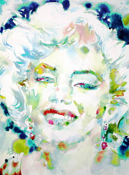 Psychedelic Image Painting - Marilyn Monroe Portrait.7 by Fabrizio Cassetta