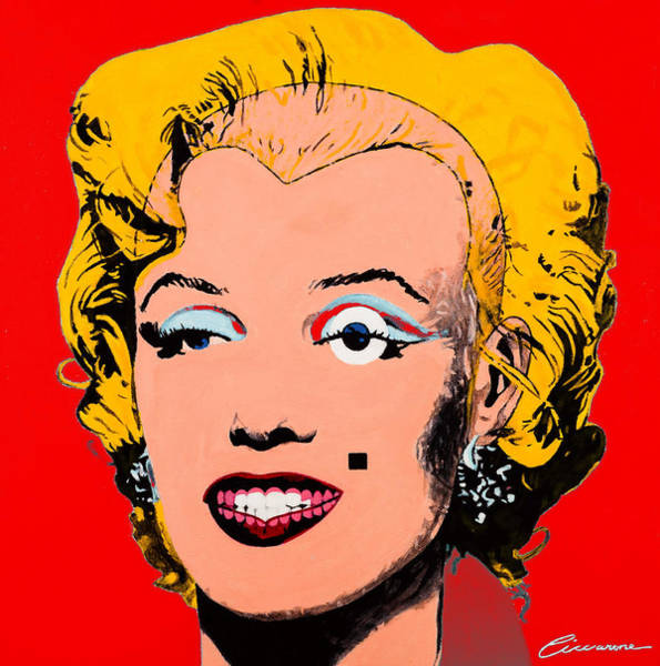 Norma Jeane Mortenson Painting - Marilyn Monroe Red by Joe Ciccarone