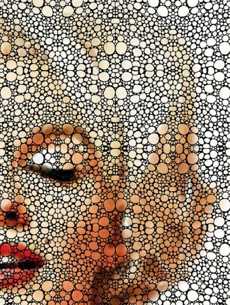 Painting - Marilyn Monroe - Stone Rock'd Art Painting by Sharon Cummings