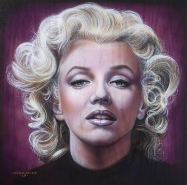 Wall Art - Painting - Marilyn Monroe by Timothy Scoggins