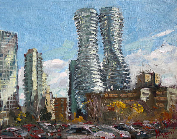 Toronto Painting - Marilyn Monroe Towers In Mississauga by Ylli Haruni