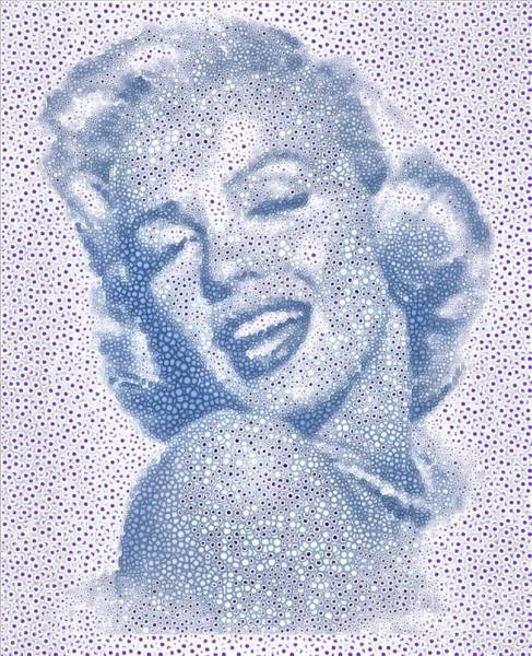 Painting - Marilyn Monroe Dot To Dot  Tribute by Catherine Lott