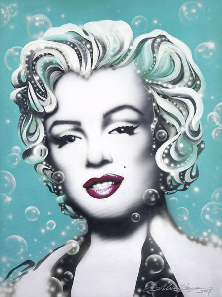Leading Actress Wall Art - Painting - Marilyn Monroe Turquoise by Alicia Hayes