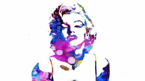 Painting - Marilyn Monroe - Watercolor by Doc Braham