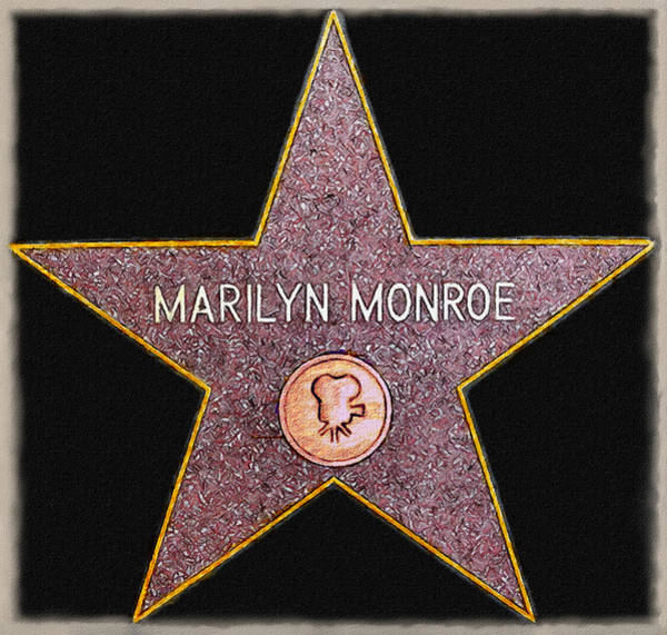 Wall Art - Painting - Marilyn Monroe's Star Painting  by Bob and Nadine Johnston