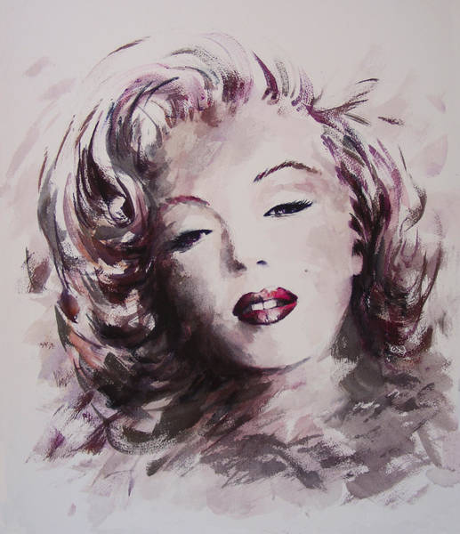Child Actress Painting - Marilyn by Rachel Christine Nowicki