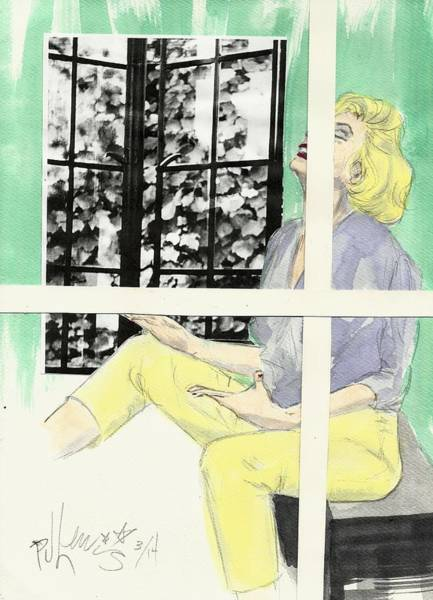 Clothing Mixed Media - Marilyn's Two Windows by PJ Lewis