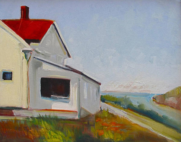 Painting - Marin Headlands House by Suzanne Cerny