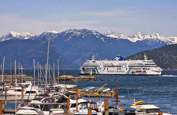 Photograph - Marina And Horseshoe Bay Ferry Terminal by Peggy Collins