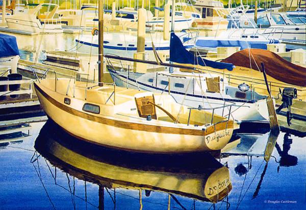Painting - Marina At Sunset by Douglas Castleman