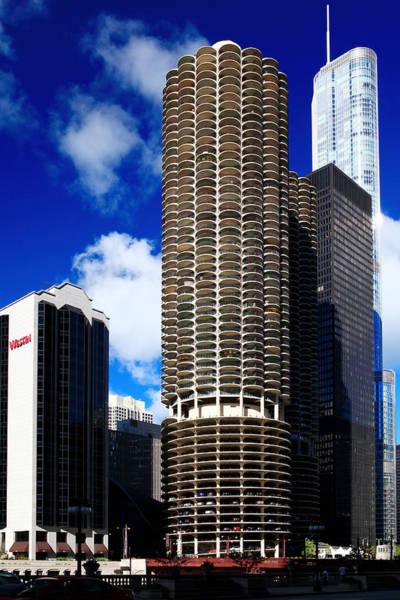 Photograph - Marina City Corncob Tower by Patrick Malon