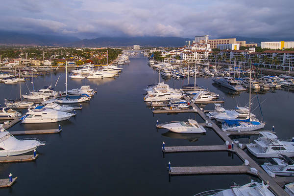 Luxury Photograph - Marina Vallarta, Puerto Vallarta, Mexico by Anne Rippy