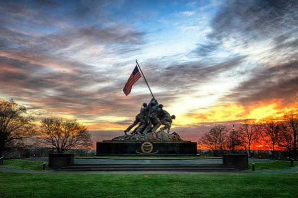 Marine Corps Wall Art - Photograph - Marine Corps War Memorial by Daniel Potter