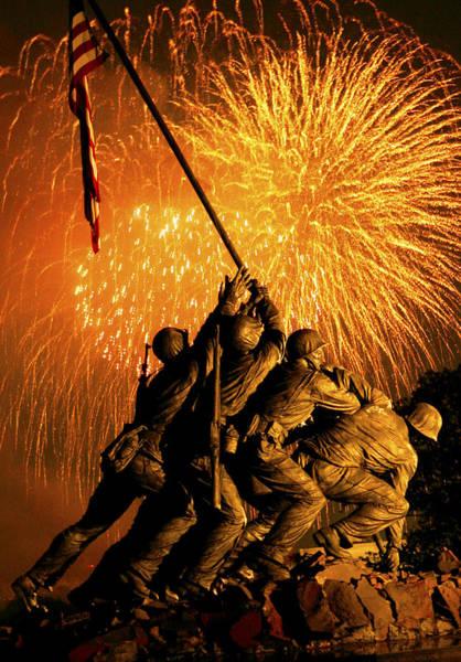 Associated Digital Art - Marine Corps War Memorial by Government Photographer