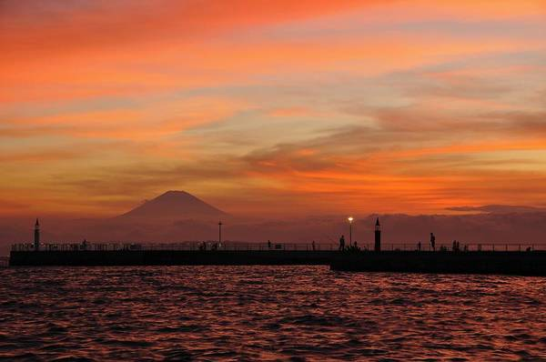 Mount Fuji Wall Art - Photograph - Marine Day Sunset by Aaron Bedell