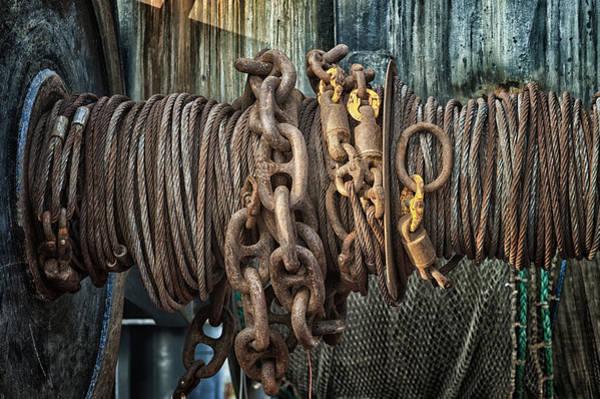 Chain Link Photograph - Marine.6927 by Gary LaComa