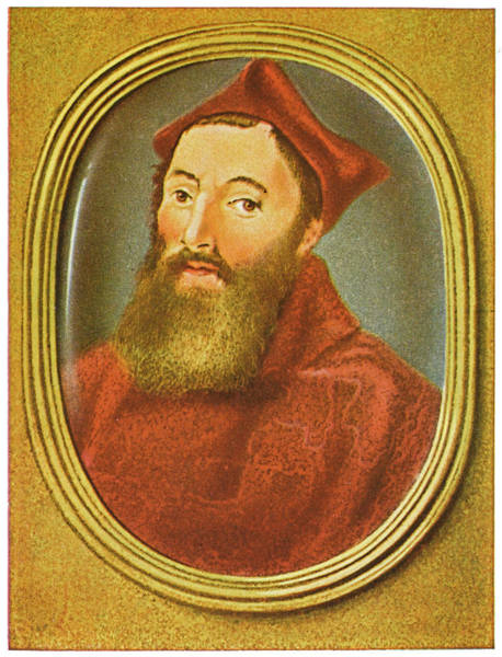 Red Cardinal Drawing - Marino Grimani  Doge Of Venice by Mary Evans Picture Library