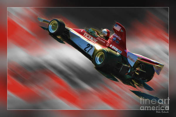 Photograph - Mario Andretti 1974 Vels-parnelli Vfj4  by Blake Richards