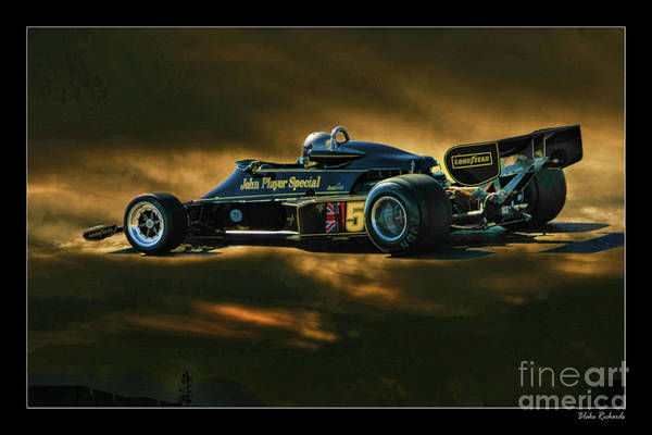 Photograph - Mario Andretti John Player Special Lotus 79  by Blake Richards