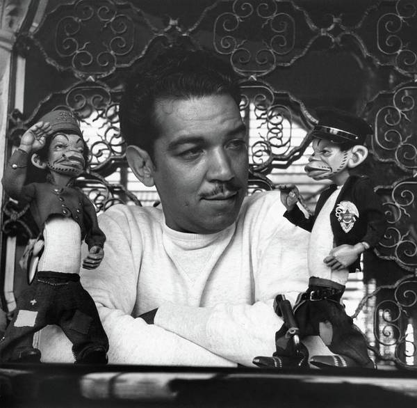 Real People Photograph - Mario Moreno With Two Dolls by Horst P. Horst