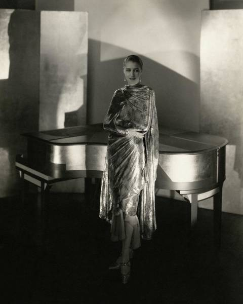 Music Photograph - Marion Morehouse By A Piano by Edward Steichen