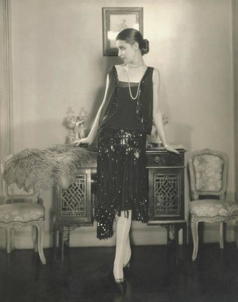 Wall Art - Photograph - Marion Morehouse In A Dress By Chanel by Edward Steichen