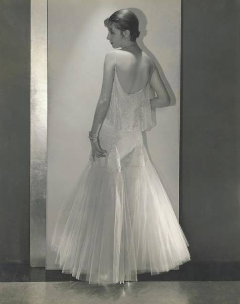 Wealth Photograph - Marion Morehouse In A Tulle Dress By Chanel by Edward Steichen