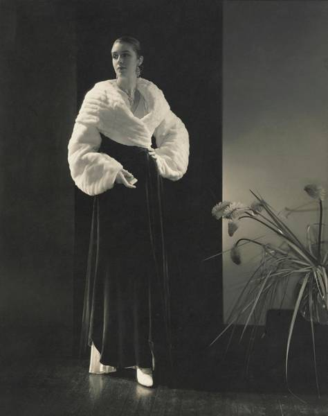 Growth Photograph - Marion Morehouse In A Vionnet Dress by Edward Steichen
