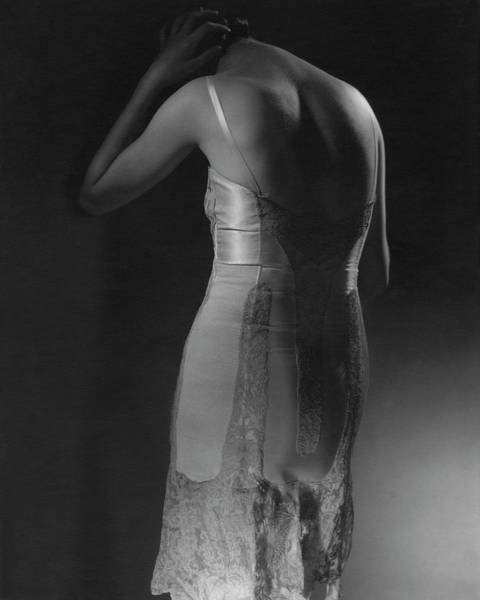 Photograph - Marion Morehouse Wearing A Corset by Edward Steichen