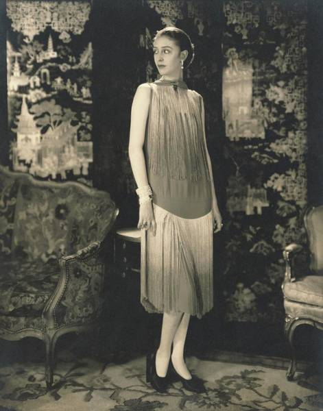 Screen Photograph - Marion Morehouse Wearing Dress By Chanel by Edward Steichen