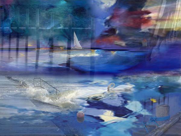 Swan Boats Digital Art - Maritime Fantasy by Randi Grace Nilsberg