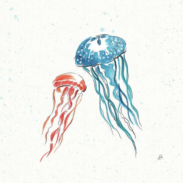 Jellyfish Painting - Maritime Vi by Daphne Brissonnet