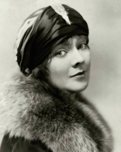 January 1st Photograph - Marjorie Rambeau Wearing A Turban by Irving Chidnoff