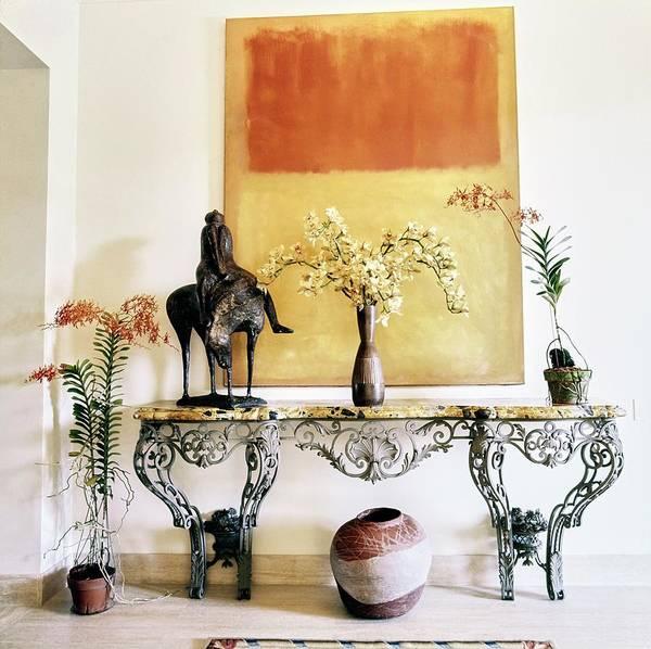 Wall Art - Photograph - Mark Rothko Painting Above A Table by Horst P. Horst