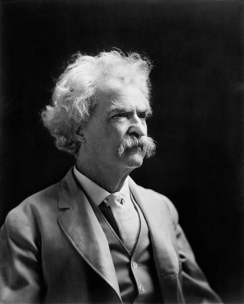 Human Head Photograph - Mark Twain by Library Of Congress