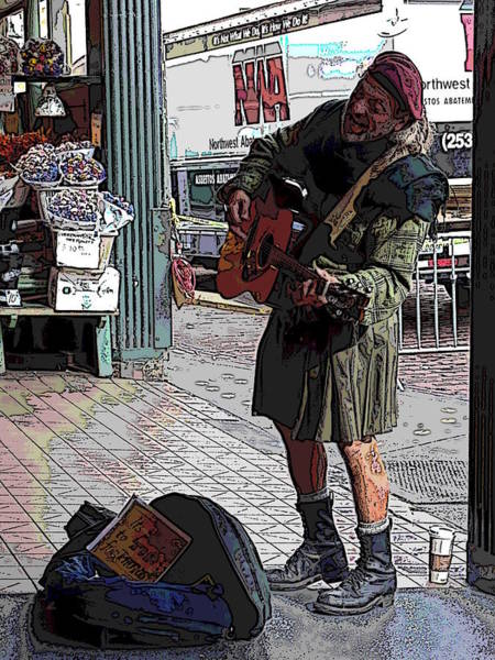 Busker Wall Art - Digital Art - Market Busker 14 by Tim Allen